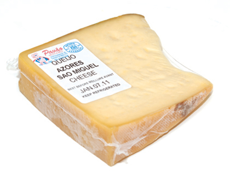 Sliced St. Miguel cheese