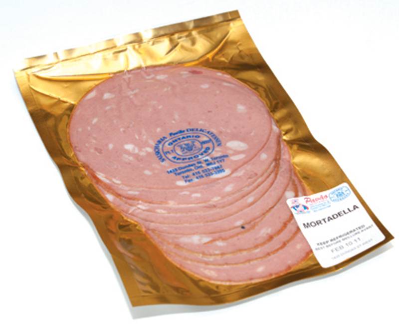 Sliced Mortadella